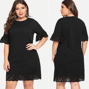 Dresses & Skirts - 💼💼 Lasercut Lace Hem Little Black Dress